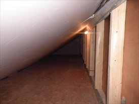 Storage Area at Eves in Attic Conversion in Killiney, South County Dublin, by Expert Attics,Ireland