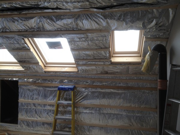 Super quilt multi layered foil insulation to create perfect seal, County Dublin by Expert Attics, Lucan, Ireland.